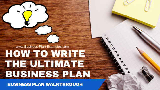 Example how to write a business plan